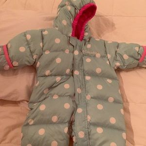 Fleece lined Columbia Bunting - size 6M infant